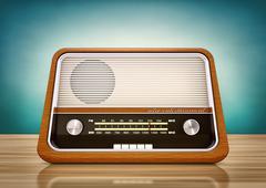 Vintage radio Stock Illustration