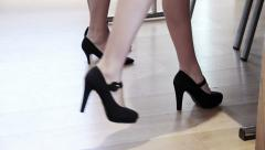 sexy women in high heels - stock footage