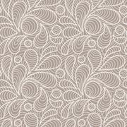 Vector seamless pattern of stylized petals Stock Illustration