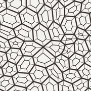 Vector seamless pattern in a grid of polygons with lines - stock illustration