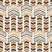 Vector seamless texture of hand-drawn arrows or chevrons Stock Illustration