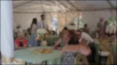 People at wedding reception dinner Stock Footage