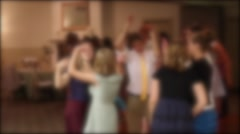 People dance at a wedding reception Stock Footage