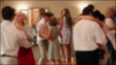 People dancing at a wedding reception Stock Footage