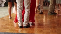 People dancing during a wedding reception Stock Footage