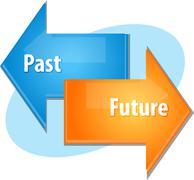 Past Future business diagram illustration Stock Illustration
