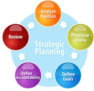 Strategic Planning business diagram illustration - stock illustration