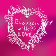 Stock Illustration of Blossom with love