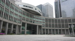 Courtyard Of The Tokyo Metropolitan Government Building Stock Footage