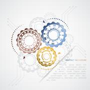 Abstract color gears vector graphic Stock Illustration