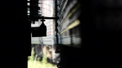 Russia.Moscow - 2013: Сlose-up of the process of cleaning the train Stock Footage