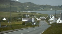 Road coming in Staffin on Isle of Skye, Scotland Stock Footage