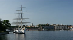 The af Chapman on islet Skeppsholmen in central Stockholm, Sweden Stock Footage