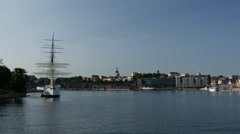 The af Chapman of the islet Skeppsholmen in central Stockholm, Sweden Stock Footage