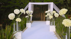 Jewish traditions wedding ceremony. Wedding canopy (chuppah or huppah). Stock Footage