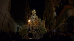 Holy Week in Almuñécar, Andalusia Stock Footage