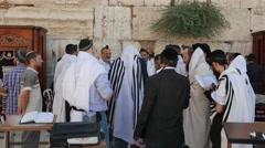 4K Torah Scroll Lift at Western Wall Stock Footage