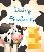 Dairy product Stock Illustration