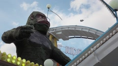 Gorilla Flume Ride Theme Park - 60fps - stock footage