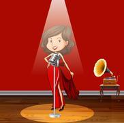 Singing - stock illustration