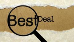 Search for best deal Stock Footage