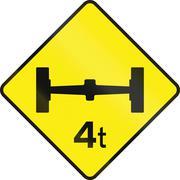Axle Load Limit Ahead in Ireland - stock illustration