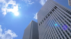 Office buildings exterior, Lower Manhattan NYC - stock footage