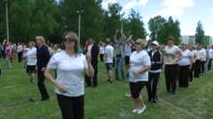 Flashmob. People and charging - 8 Stock Footage