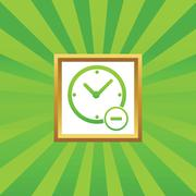 Reduce time picture icon Stock Illustration