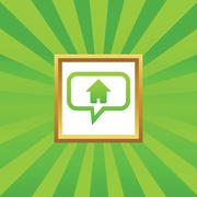 Home message picture icon Stock Illustration