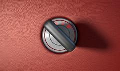 Car Key In Ignition Stock Illustration