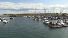 Axmouth Harbour in Devon Stock Footage