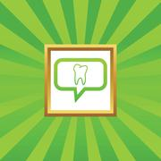 Stock Illustration of Tooth message picture icon