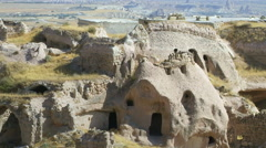 Rock Cut Caves Of Cappadocia Stock Footage