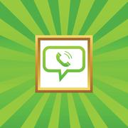 Calling message picture icon - stock illustration