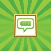 Full battery message picture icon - stock illustration