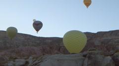 Hot Air Balloons in Cappadocia, Turkey Stock Footage
