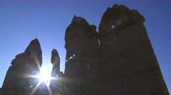 Fairy Chimneys in Goreme Valley ,Cappadocia Stock Footage
