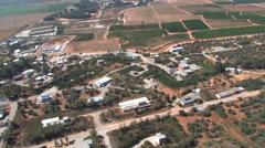 Israel Countryside Aerial Stock Footage