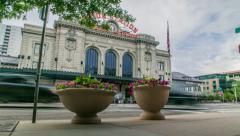 Union Station Motion Controlled Timelapse Denver, CO - stock footage