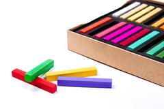 Stock Photo of Close up view of the chalk pastels.