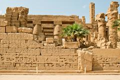 Ancient ruins of Karnak temple in Egypt. - stock photo