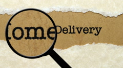 Search for home delivery Stock Footage