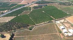 Israeli Countryside Aerial Stock Footage