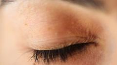 Eye extreme close-up Stock Footage