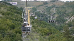 Cableway in Mountain - stock footage