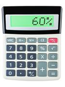 Calculator with 60 - stock photo