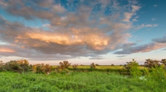 Time lapse. Russia. Rostov region, the Caucasus. Moving clouds over the steppe. - stock footage