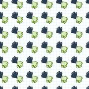 Vector seamless pattern of arrows surround-like cursors Stock Illustration