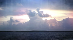 Fl Keys time lapse sky light leak Stock Footage